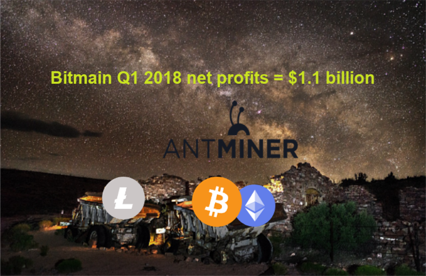 Bitmain Q1 2018 net profits