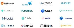 Cryptoins exchanges
